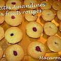 Amandines aux fruits rouges