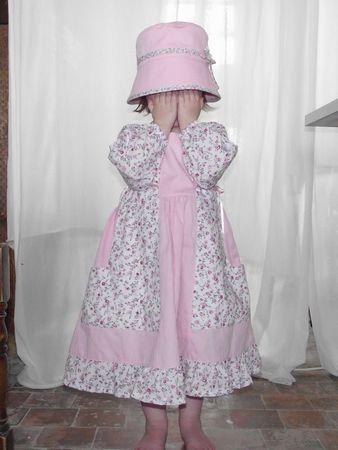 Robe fleurie rose Gretchen Modkid 3 ans 079