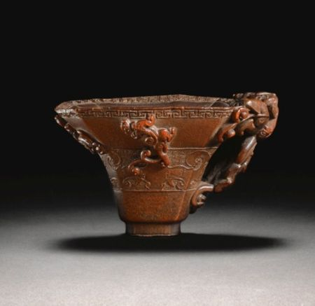 A_CARVED_RHINOCEROS_HORN_LIBATION_CUP