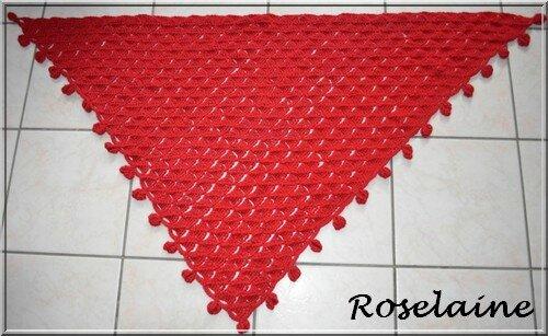 Roselaine69 chèche rouge Phildar