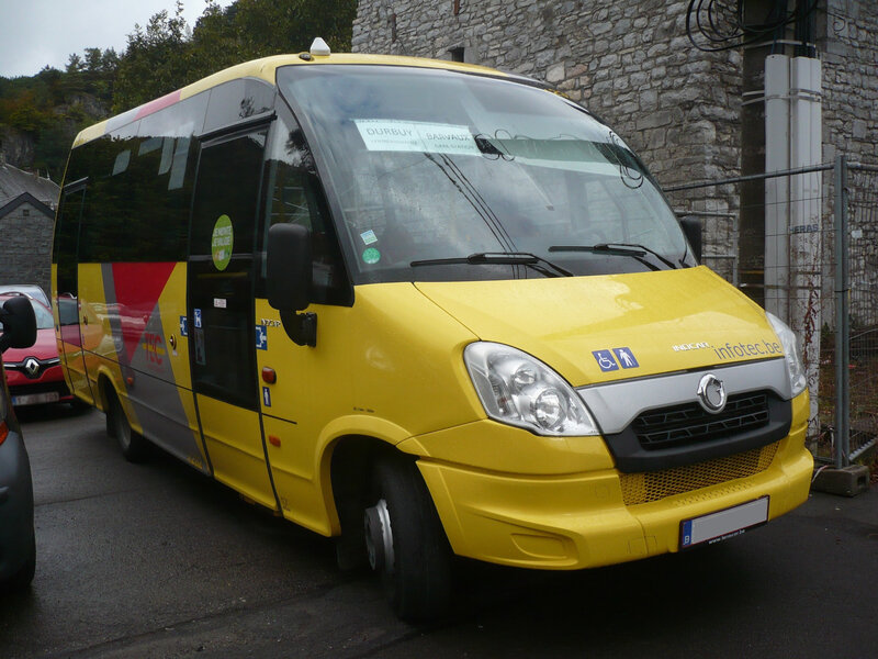 IVECO Indcar Wing Urbano minibus TEC Namur Luxembourg Bomal sur Ourthe (1)