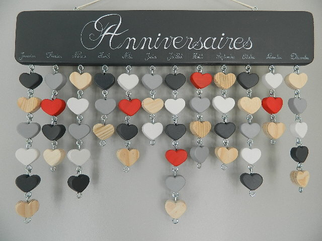 CALENDRIERS GRIS ANTHRACITE