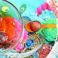 Gulab jamun (coucougnettes de chameau- dessert indien}