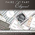 Cartes de visite/correspondance, mariage, naissance, baptême chez faire part elegant