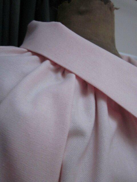 Veste BLANCHE en toile de coton rose (6)