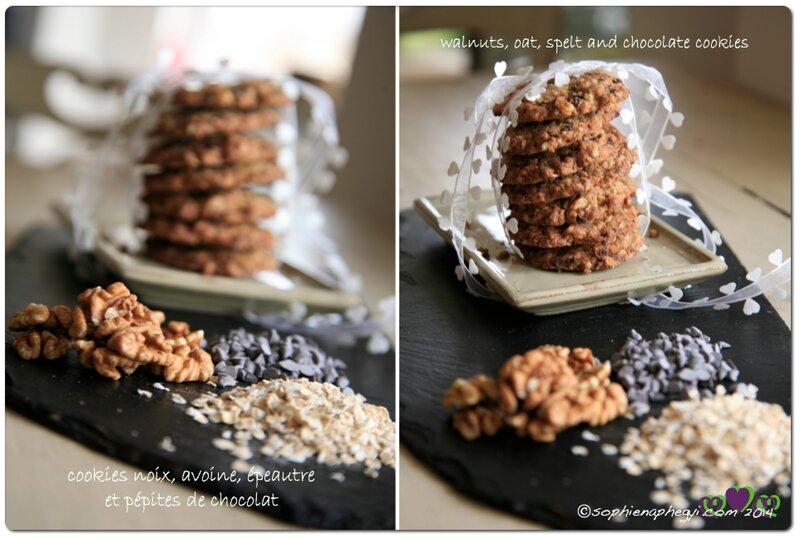 a cookies noix epeautre avoine choco