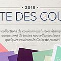 Réorganisation des couleurs chez stampin' up!