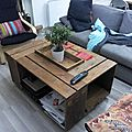 Table basse bar version rectangulaire fabriquée par Jonathan