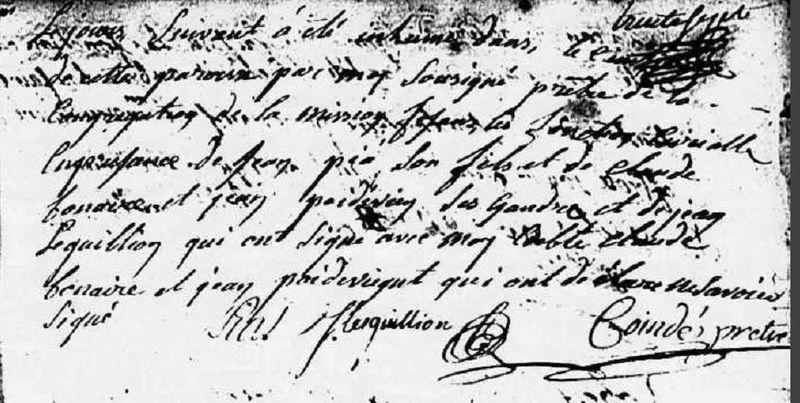 Piat Gilles_Acte Décès 1758_ page 2