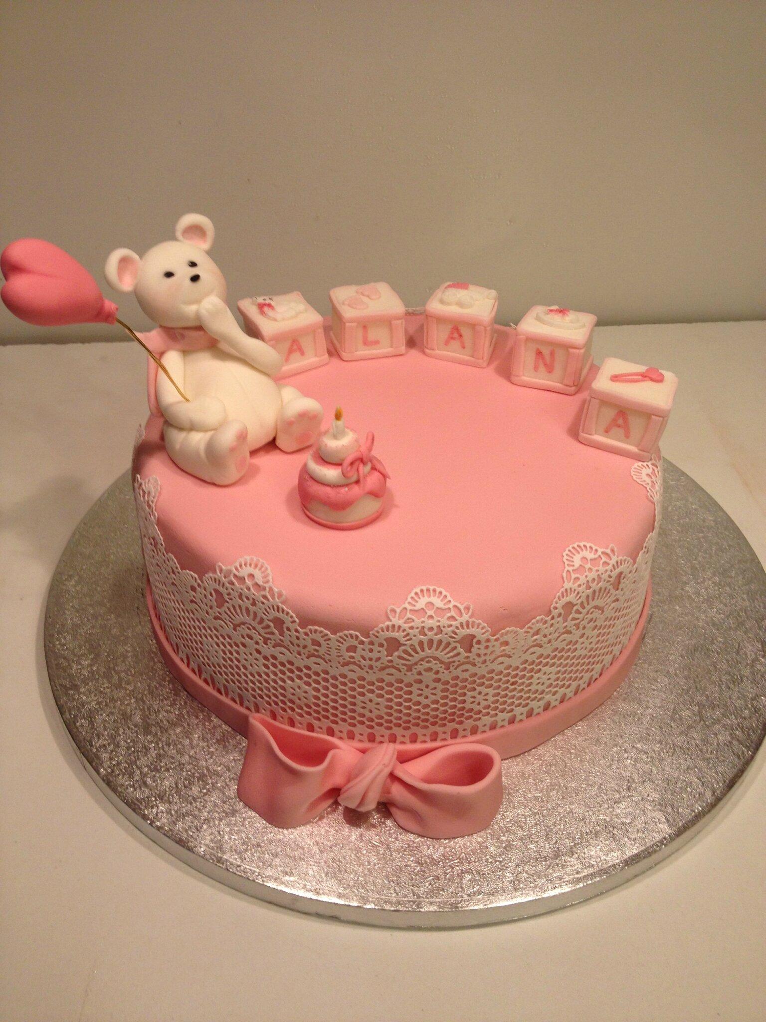 Gâteau rose Ma première bougie