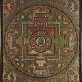 Trois superbes mandalas du tibet oriental-chine, c. 18° siècle chez cornette de saint cyr
