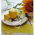 Mousse au citron + défi arc-en-ciel pour la couleur jaune