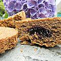 Sablés au blé noir, miel, fleur de sel de guérande et petit coeur de mûres pour la remise à l'eau du général leclerc!
