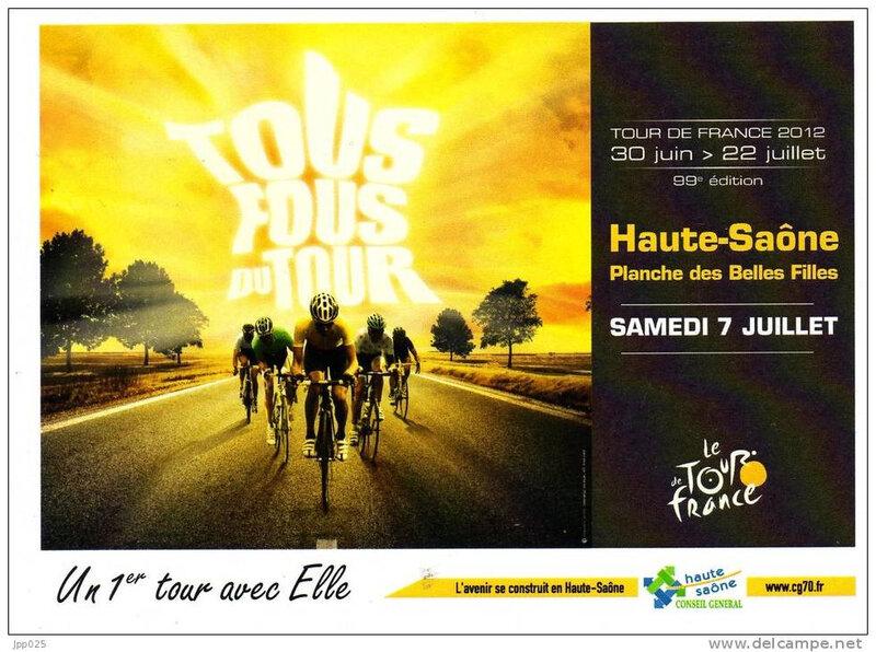 CPM Tour de France 2012 Planche des Belles Filles