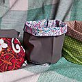 Vide poche... la suite / reversible fabric storage bins