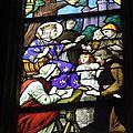 11_église St Sixte_Chapelle Rainsouin_verrière vie de St Louis_détail
