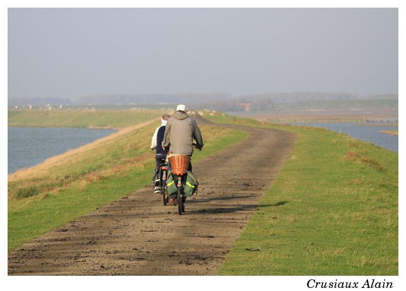 cyclisme sur digue