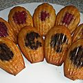 Madeleine framboise ou nutella