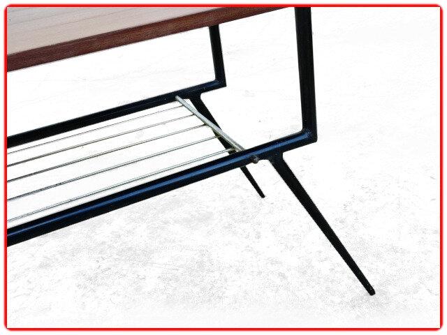 table vintage d'occasion pieds compas