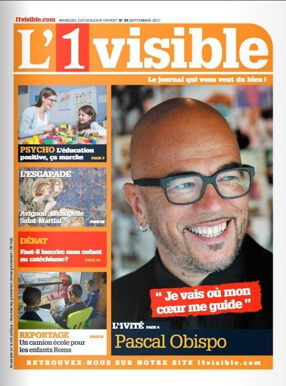 """[PRESSE] """"Pascal Obispo fan de Jésus"""" Interview dans le mensuel """"L'1visible"""""""