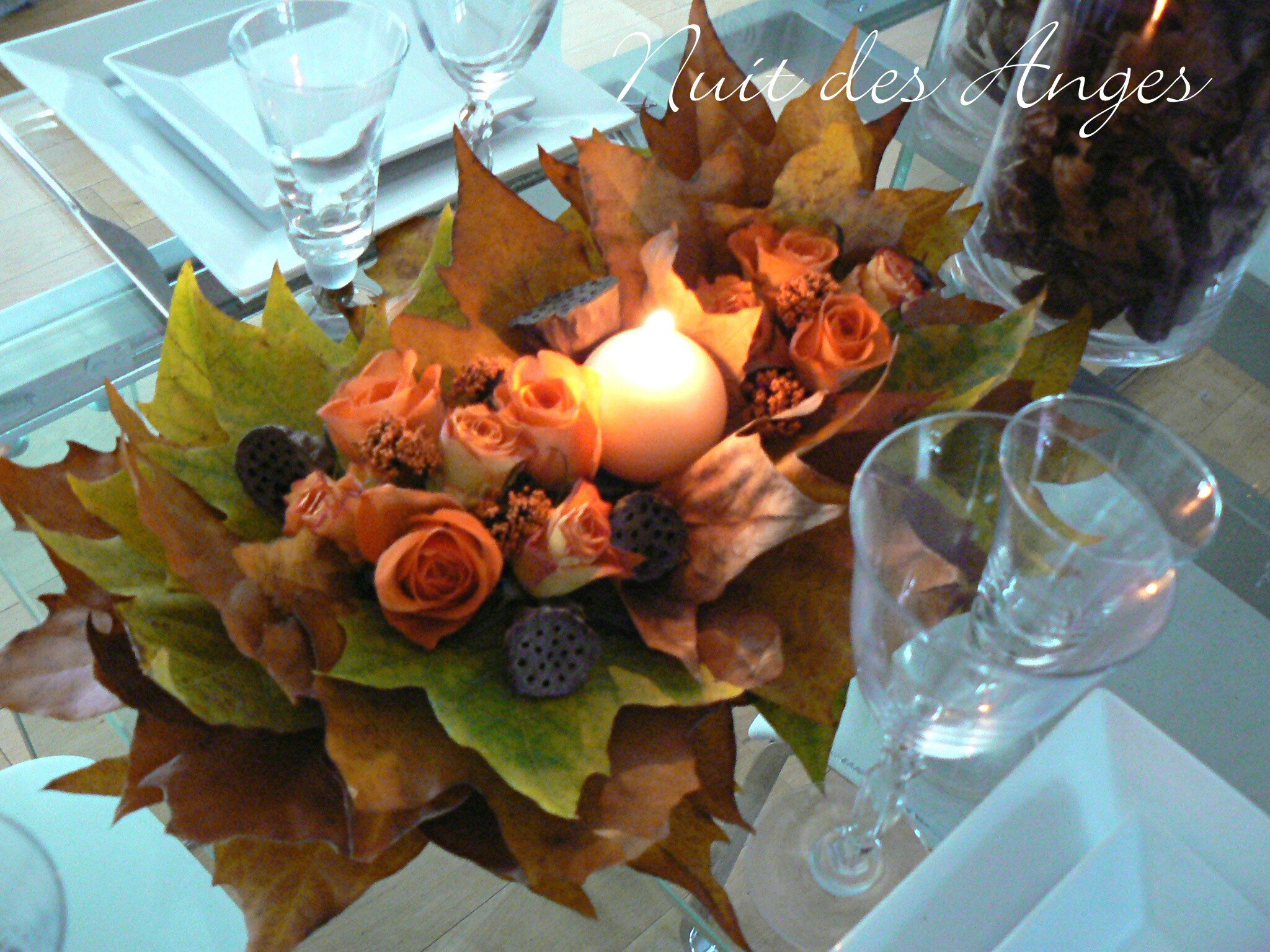 Photo Table Decoration Theme Automne : Décoration de table automne album photos nuit des anges