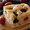 Focaccia aux tomates cerises & aux olives noires