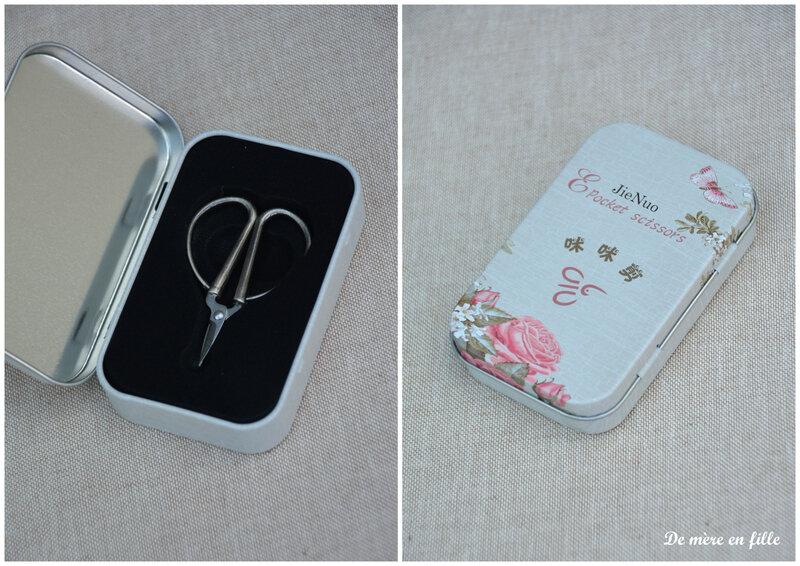 mini ciseaux argent boîte 2