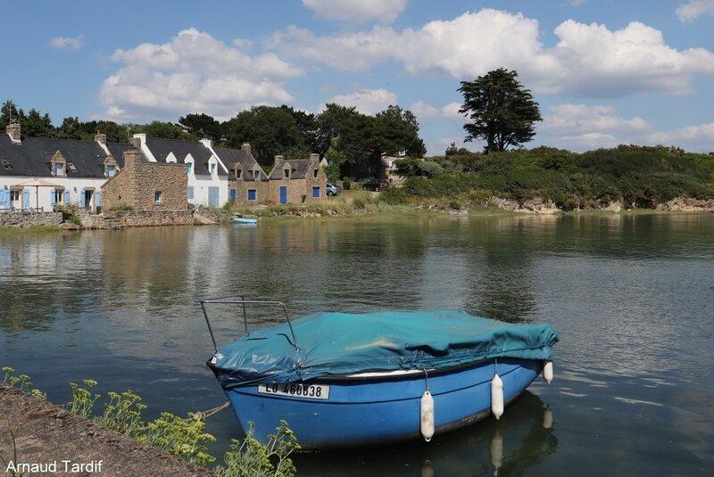 001326 Guidel - La Ria d'Etel - Commune de Plouhinec - Le Vieux Passage avant le Pont de Belz