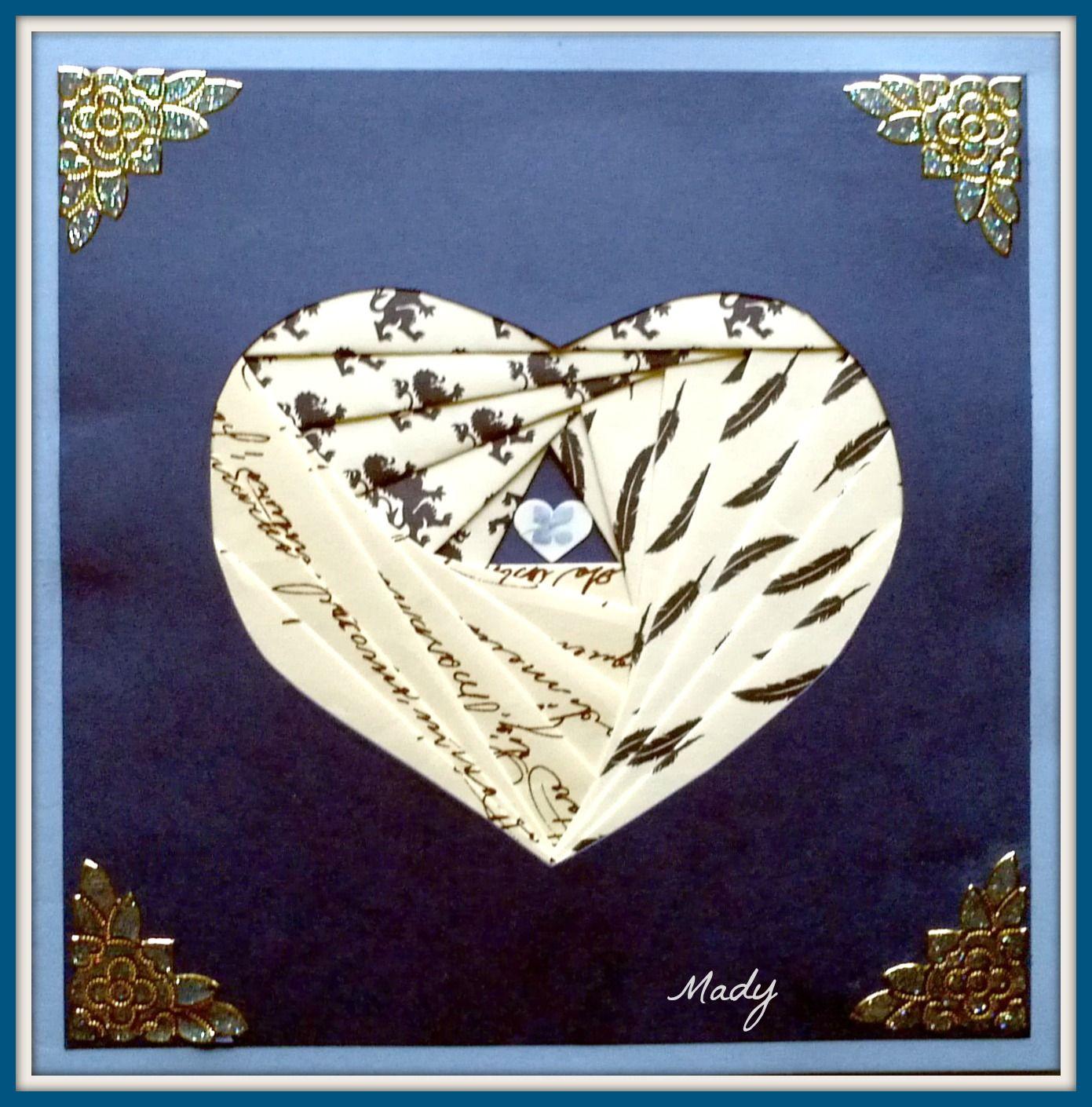 1 Coeur iris folding