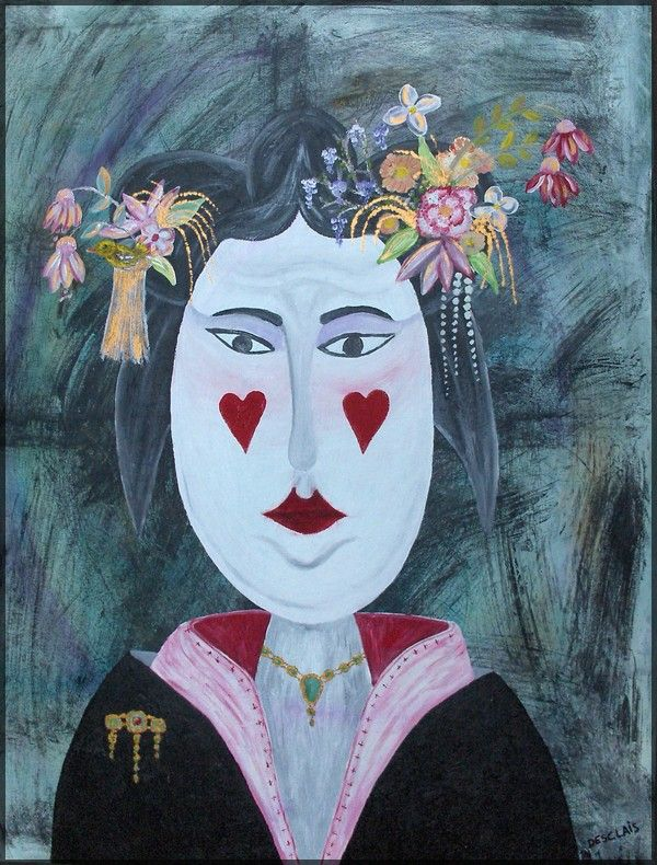 Chinese queen (toile acrylique 80/100cm)