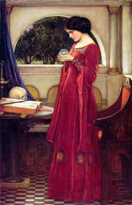 The Crystal Ball_John William Waterhouse_1902