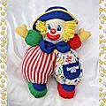 peluche_doudou_clown_chiffon_multicolore_vinage_berchet