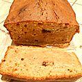 Pain - cake à la banane, au chocolat et miel
