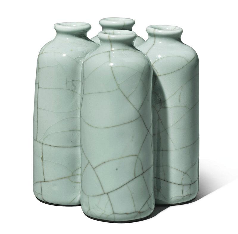ArareGuan-type quadruple vase, Yongzheng sealmark and period (1723-1735)