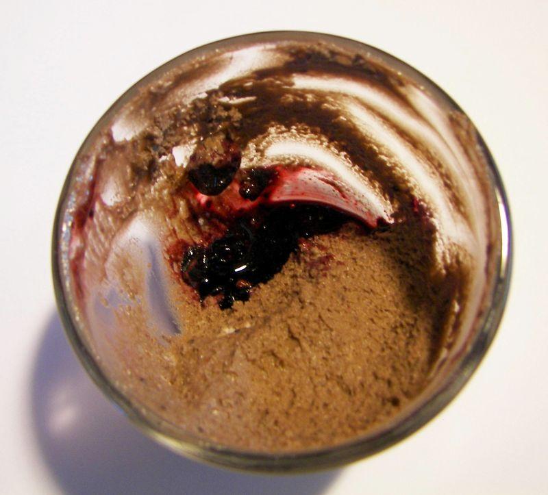 Mousse chocolat /myrtilles