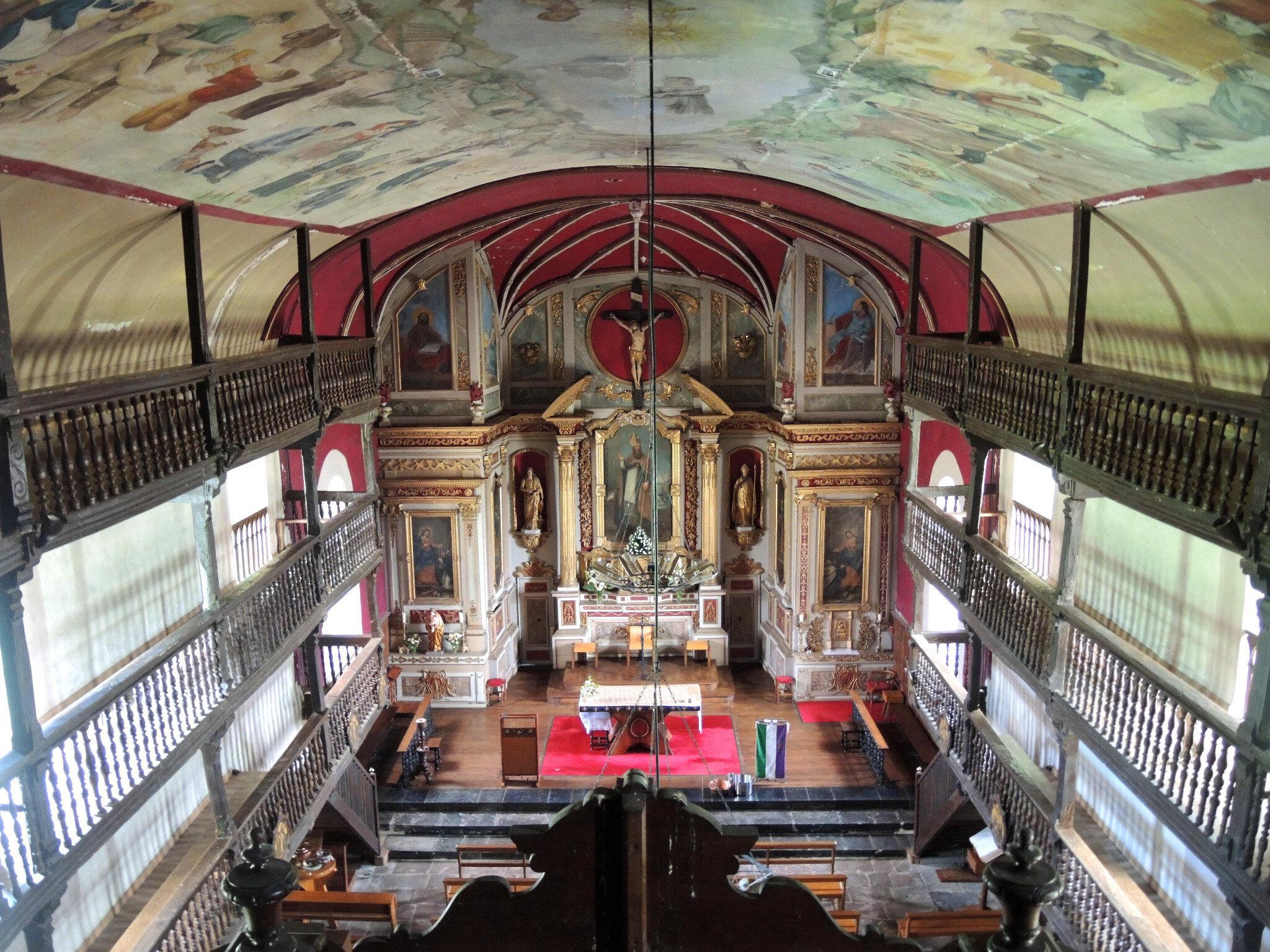 Mendionde, église saint-Cyprien, intérieur, ensemble, vue du troisième (64)