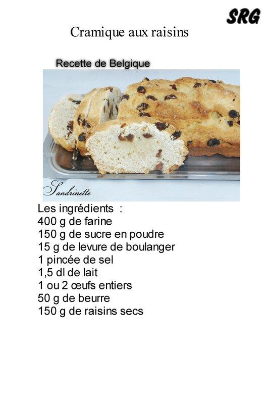 Cramique aux raisins (page 1)
