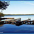 Reflets pontons dans le Lac