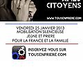 Nouvelle initiative de prière « tous en prière le 25 janvier ».
