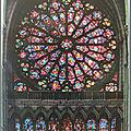 Reims 2 - cathédrale - Grande rose et lancettes ouest XIIIe