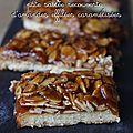 Mielats, pâte sablée recouverte d'amandes effilées caramélisées