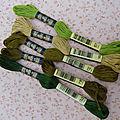 Mouliné verts