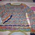 Pull aux bords crochetés en laine Fonty Bamba