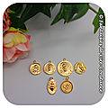 6.Médailles Jésus ange plaqués or