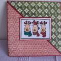 Carte Noël diagonale rennes
