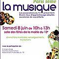 Paris sème la musique - samedi 8 juin 2013 - mairie du 13e arrdt