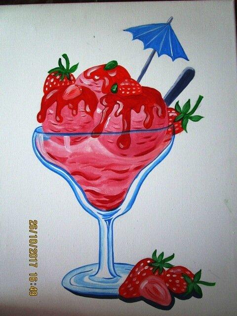 coupe de glace à la fraise 010