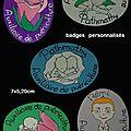 Badges en bois (bébé/rose...)