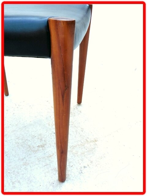 chaise LUBKE design scandinave TECK 1960