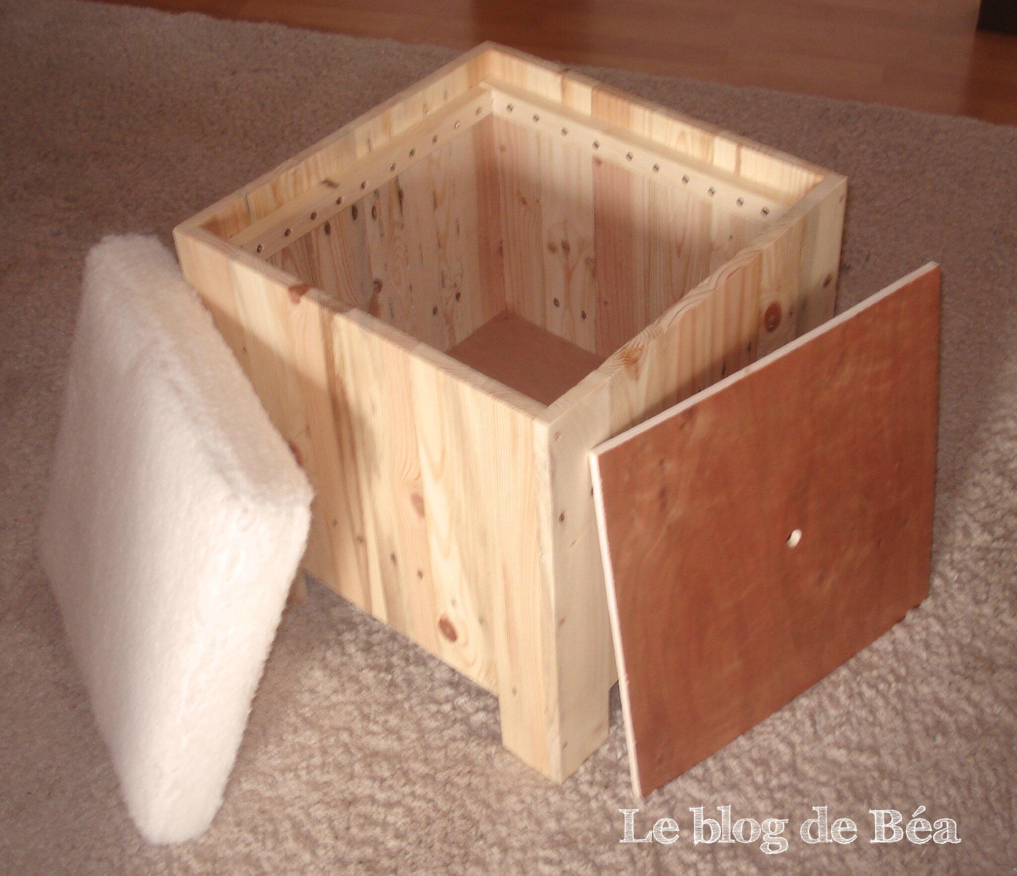 DIY tabouret rangement en bois de palette